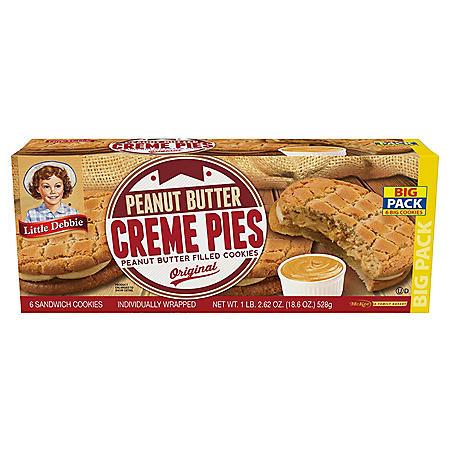 Little Debbie Peanut Butter Crème Pies (3.1 oz./ 6 pk.)