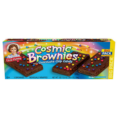 Little Debbie Cosmic Brownies with Chocolate Chip Candy - 12 ct.