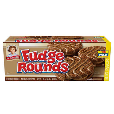 LIttle Debbie Fudge Rounds - 12 ct.