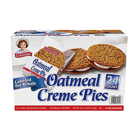Little Debbie Oatmeal Creme Pie Club Pack (24 pk.)