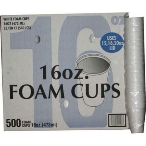 Foam Cups - 16oz/500 Count