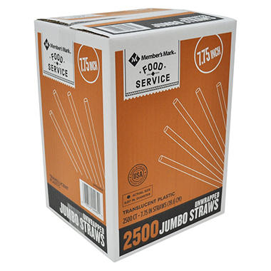 Member's Mark Jumbo Unwrapped Straws (2500 ct.)