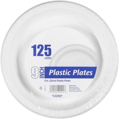 """Plastic Plates - 9"""" - 125 ct."""