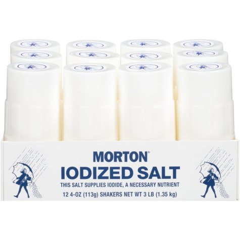 Morton Iodized Salt (4 oz., 12 ct.)