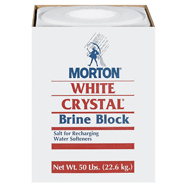 Morton White Crystal Brine Block - 50 lbs.