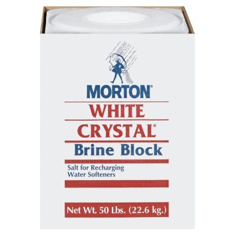 Morton White Crystal Brine Block - 50 lbs.