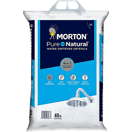 Morton Pure and Natural Water Softener Crystals (40 lbs.)