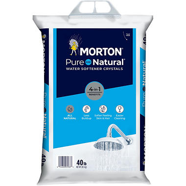 Morton Pure And Natural Water Softener Crystals 40 Lbs