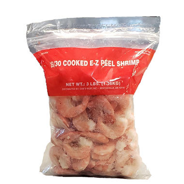 Cooked EZ Peel Shrimp (3 lb.)