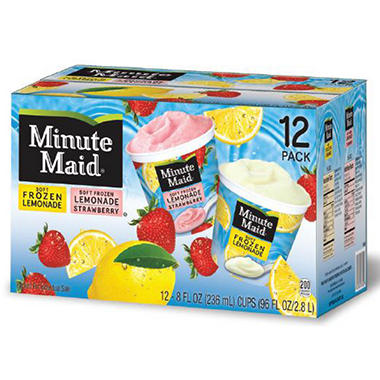 Minute Maid Frozen Lemonade Cups - 8 oz. - 12 ct.