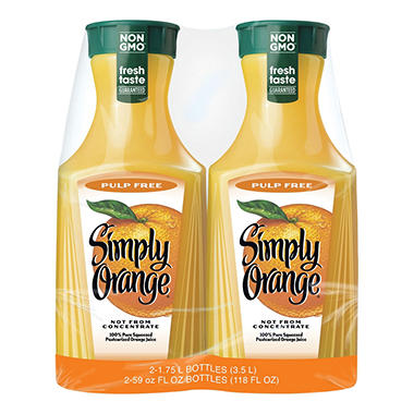 Simply Orange, Pulp Free (59 fl. oz. carafe, 2 pk.)