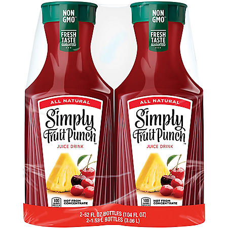 Simply Fruit Punch (52 fl. oz., 2 pk.)