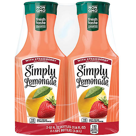 Simply Lemonade with Strawberry (52 oz., 2 ct.)