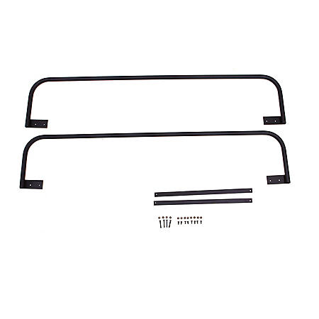 Universal Side Bars for Hitch Mounted Cargo Carrier, Black Finish