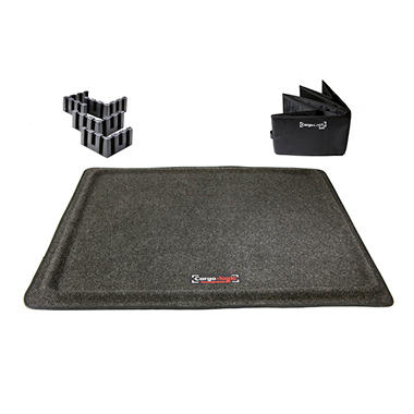 Universal Stain-Resistant No-Slip Cargo Floor Mat with Collapsible Tote