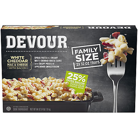 Devour White Cheddar Mac and Cheese with Bacon (64 oz., 2 pk.)