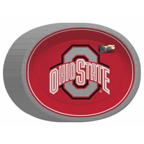 "Offline NCAA Ohio State Buckeyes Paper Platters (10"" x 12"", 50 ct.)"