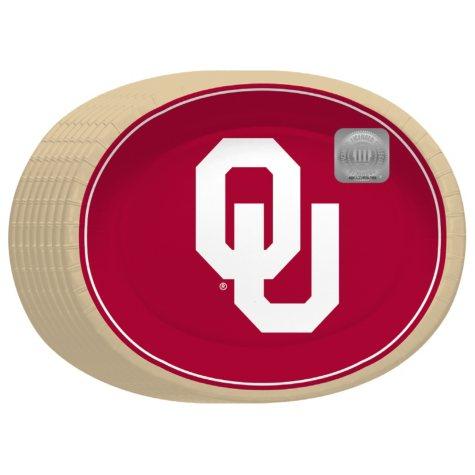 "Offline Oklahoma Sooners Oval Platters - 10"" x 12"" - 50 ct."
