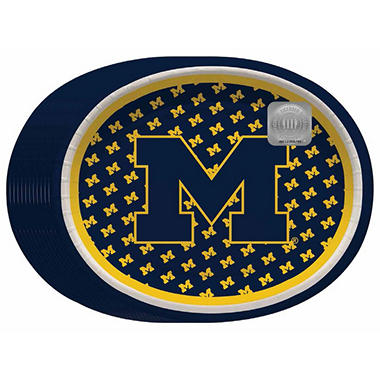 NCAA University of Michigan Wolverines Paper Platters (10