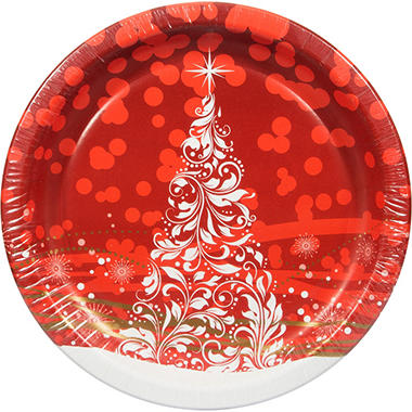 Artstyle Holiday Glimmer Paper Plates - 10.25