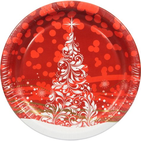 """Artstyle Holiday Glimmer Paper Plates - 10.25"""" - 80 ct."""