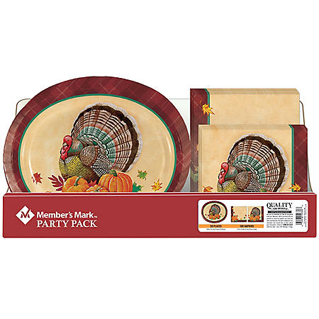 Member's Mark Time for Turkey Oval Party Pack - 150 ct.