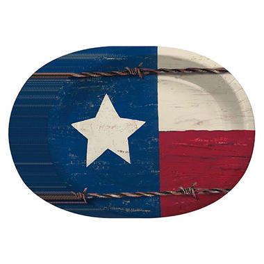 Daily Chef Texas Pride Paper Platters (50 ct.)