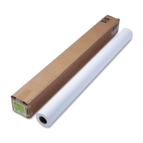"HP Designjet Inkjet Large Format Paper, 6.6 mil, 42"" x 100 ft, White"