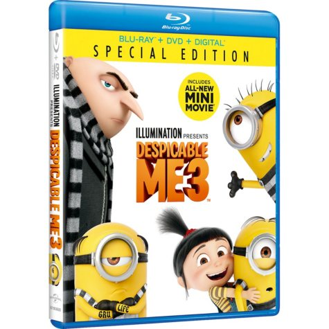 Despicable Me 3 Bluray + DVD + Digital