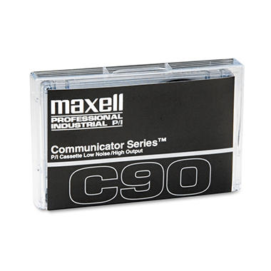Maxell - Standard Dictation Audio Cassette, Normal Bias - 90 Minutes (45 x 2)