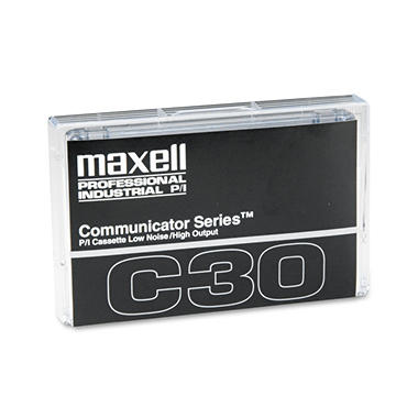 Maxell - Standard Dictation/Audio Cassette, Normal Bias - 30 Min (15 x 2)