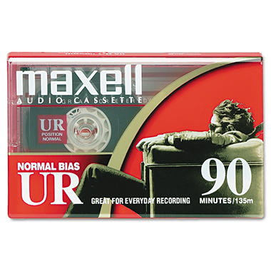 Maxell - Dictation & Audio Cassette, Normal Bias, 90 Minutes (45 x 2)