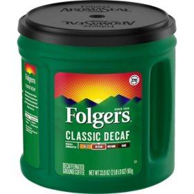 Folgers Decaffeinated Classic Roast Coffee (33.9 oz.)