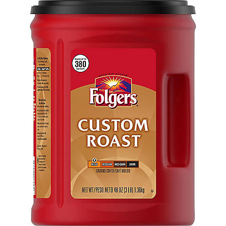 Folgers Custom Roast Ground Coffee (48 oz.)