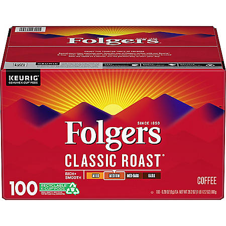 Folgers Classic Roast Coffee K-Cups (100 ct.)