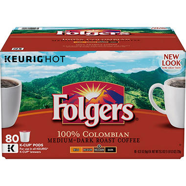 Folgers Gourmet Selections 100% Colombian Coffee K-Cups (80 ct.)