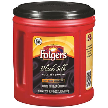 Folgers Black Silk Ground Coffee (35 oz.)