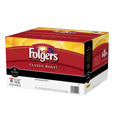 folgers classic roast coffee medium roast 80 kcups - K Cups Bulk