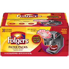 Folgers Filter Packs Coffee, Classic Roast (.9 oz. packs, 30 ct.)