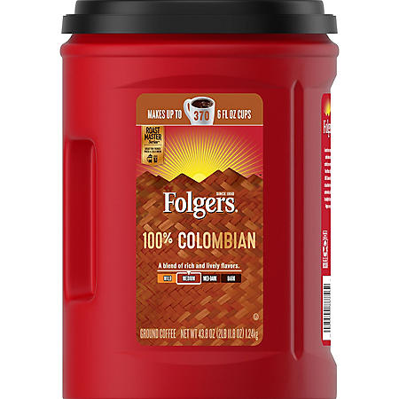 Folgers 100% Colombian Coffee (43.8 oz.)