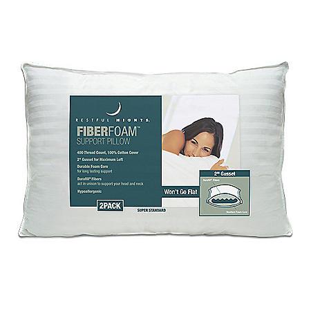 Restful Nights® FiberFoam™ Pillow - 2 pk.