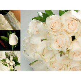 Bulk wedding flowers sams club wedding collection white 10 pc mightylinksfo