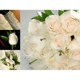 Bulk wedding flowers sams club wedding collection white 17 pc mightylinksfo