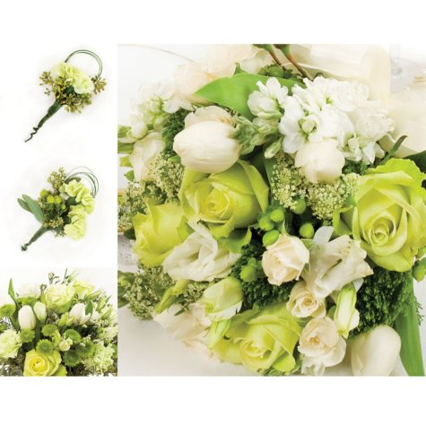 Wedding Collection - Green and White (10 pc.)