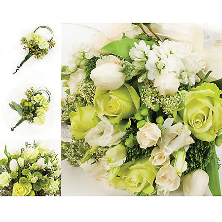Wedding Collection Green and White (17 pieces)