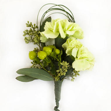 Wedding corsage boutonniere package green white 24 pc wedding corsage boutonniere package green white 24 pc mightylinksfo Image collections