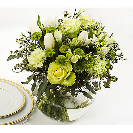 Wedding Collection Green and White, Centerpieces (6 pieces)