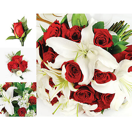 Wedding Collection Red and White (17 pieces)