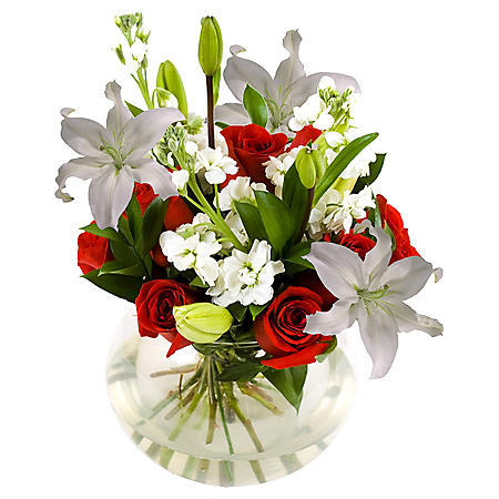 Wedding Collection Red and White Centerpieces (6 pieces)