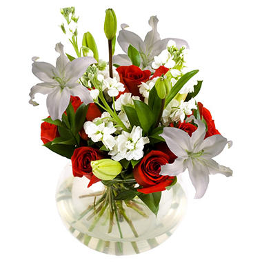 Centerpiece - Red & White - 6 pc.